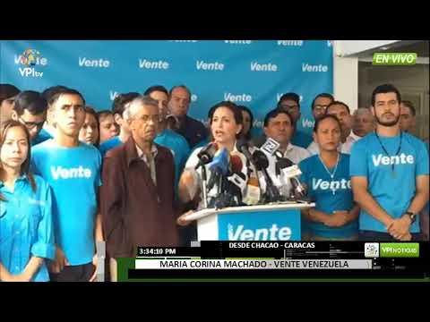 Venezuela: María Corina Machado se deslinda de la MUD | VPI TV  Venezolanos por la Información