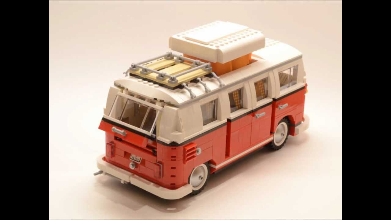 lego volkswagen t1 camper van 10220 time lapse build hd. Black Bedroom Furniture Sets. Home Design Ideas