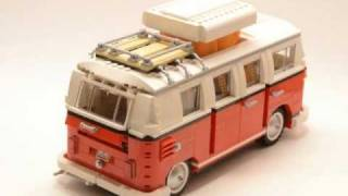 Lego Volkswagen T1 Camper Van 10220 Time Lapse Build Hd