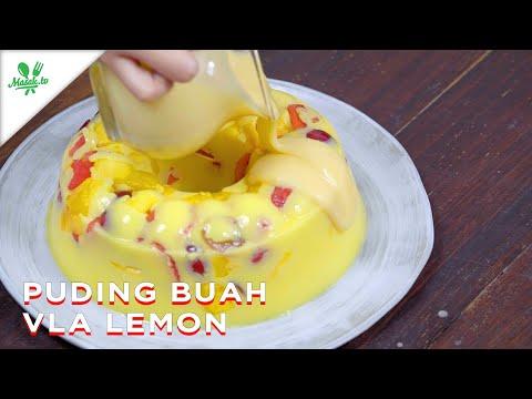 Puding Buah Vla Lemon