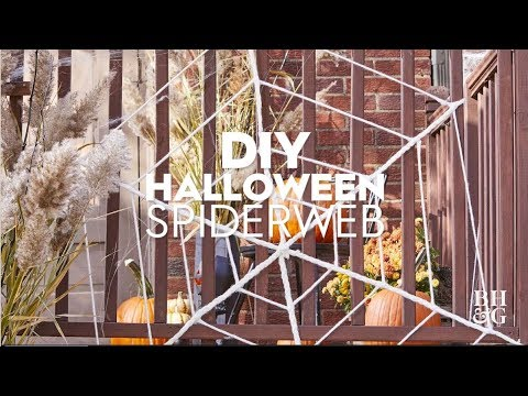 DIY Halloween Spiderweb | Made By Me Home | Better Homes & Gardens