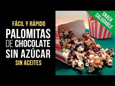 Palomitas de Chocolate sin azúcar ni aceites - Snack Saludable