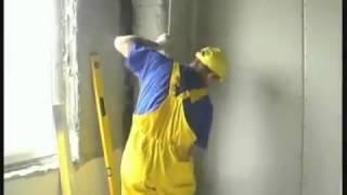 видео Выравнивание стен листами гипсокартона