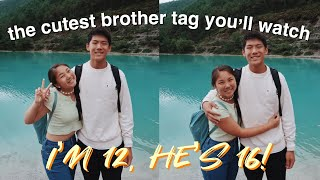 the cutest brother tag you'll ever watch (no joke)