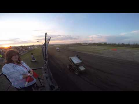 Winged Sprint Cars Main Event - 6/19/2015 - Mitchell Raceway