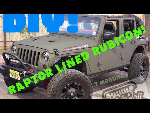 Jeep Wrangler Rubicon Hard Rock! DIY Raptor Lined