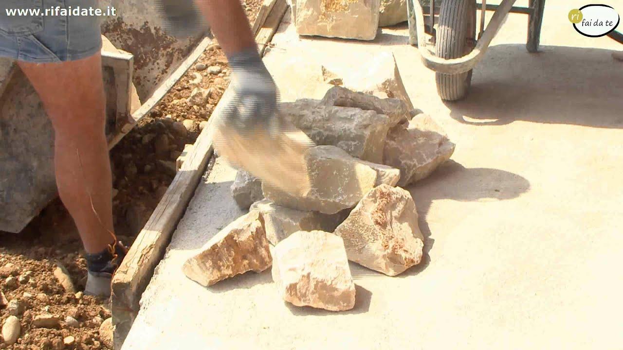 Rivestire una parete in pietra parte 1 - YouTube