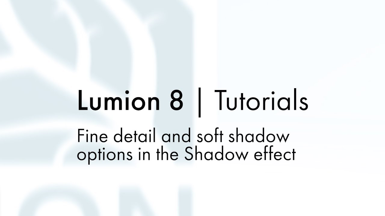 Effects: Light and Shadow - Fine detail and soft shadow options in ...