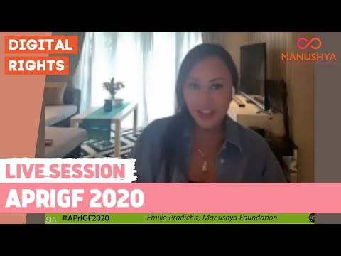 APrIGF 2020 - The digital rights landscape in Asia Pacific after COVID19