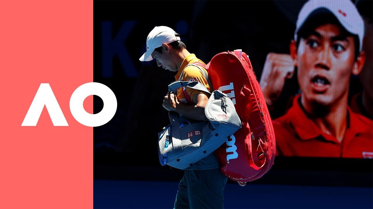 Kei Nishikori & Joao Sousa pre-match warm up (3R) | Australian Open 2019