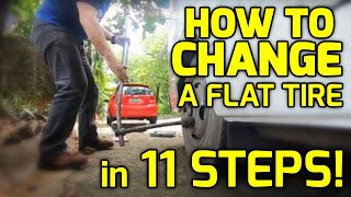 HOW TO CHANGE A FLAT TIRE in 11 STEPS