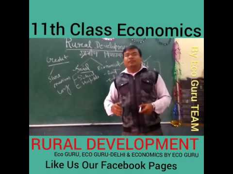 ECONOMICS 11TH CLASS RURAL DEVELOPMENT