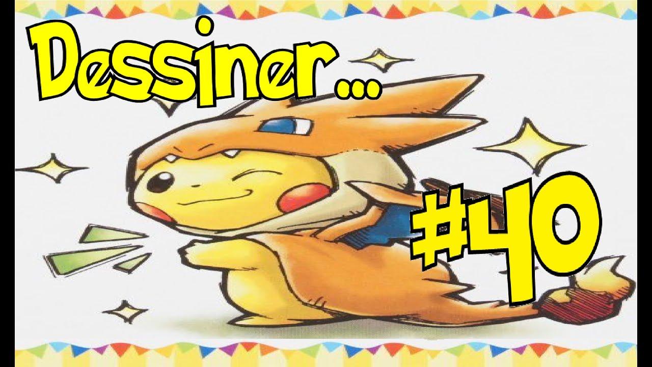 Tuto 40 dessiner pikachu m ga dracaufeu youtube - Image de mega dracaufeu ...