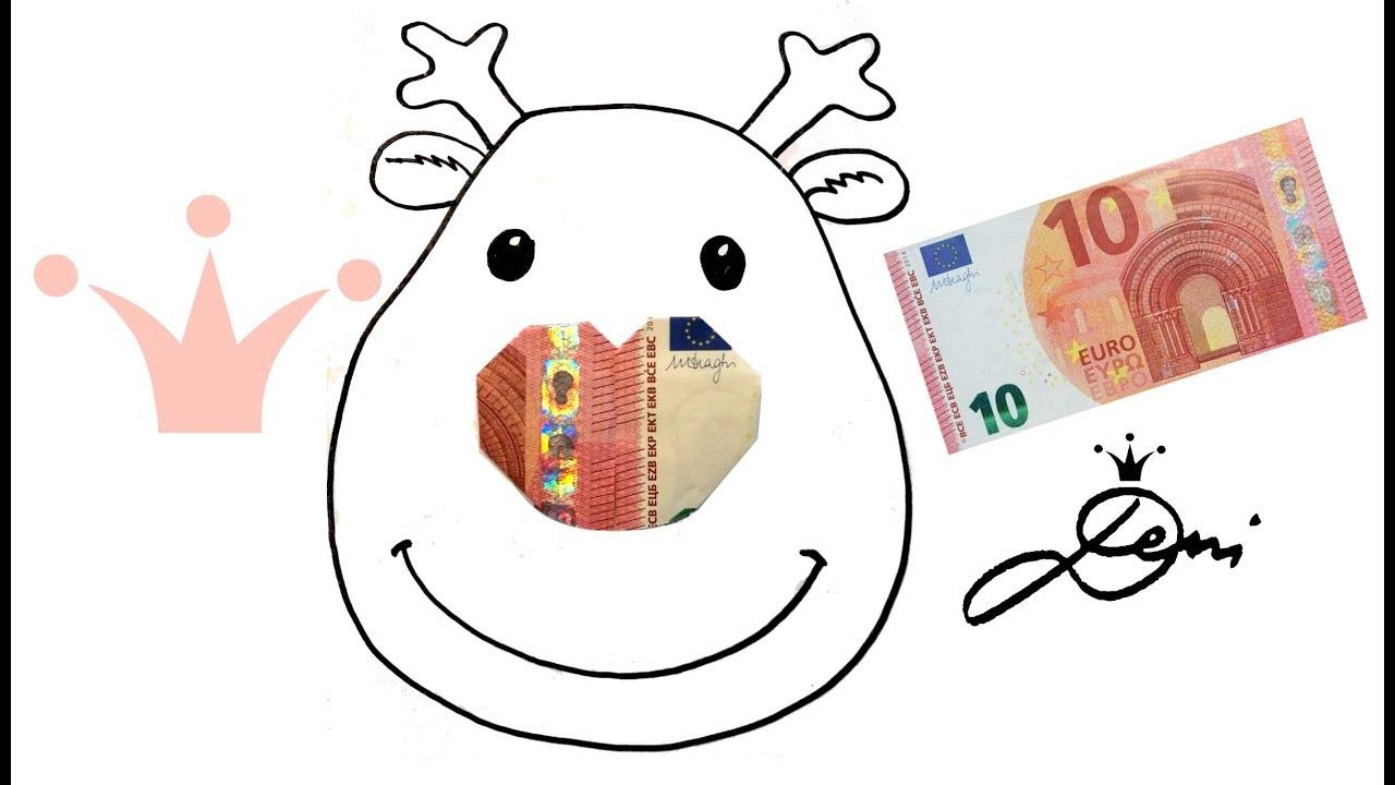 Elch Ganz Einfach Zeichnen Geldschein Herz Falten Geld