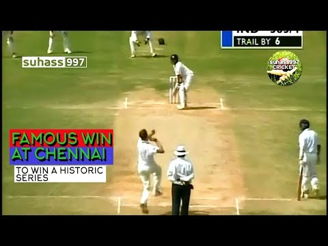 India vs Australia 2001 @ Chennai - INDIA's HISTORIC WIN! Border Gavaskar series!