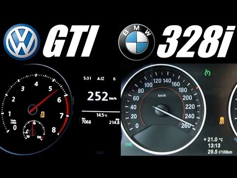 Golf 7 Gti 220hp Vs Bmw F30 328i 245hp 0 250 Kmh