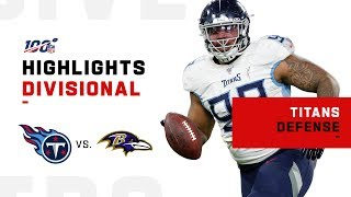 Nevermore! Titans D SHUTS DOWN Ravens w/ 2 INTs & 4 Sacks! | NFL 2019 Highlights