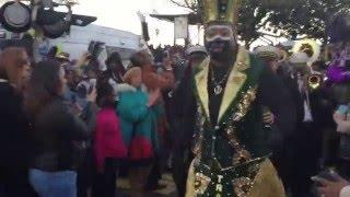Krewe Of Zulu Celebration @ Lundi Gras in New Orleans, La
