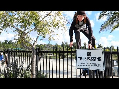 BREAKING INTO CLOSED SKATEPARK TO RIDE!
