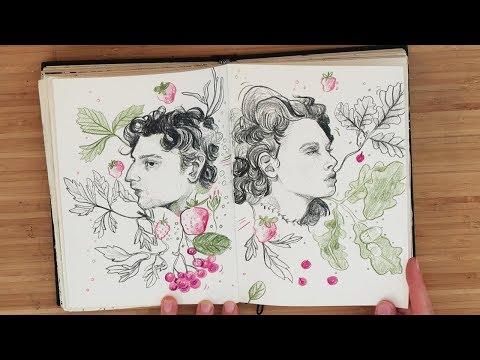 It's a sketchbook tour!