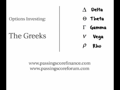 Options Greeks