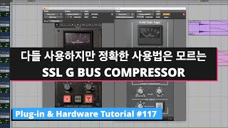 SSL G BUS COMPRESSOR 사용 방법과 UAD & WAVES 소리 비교