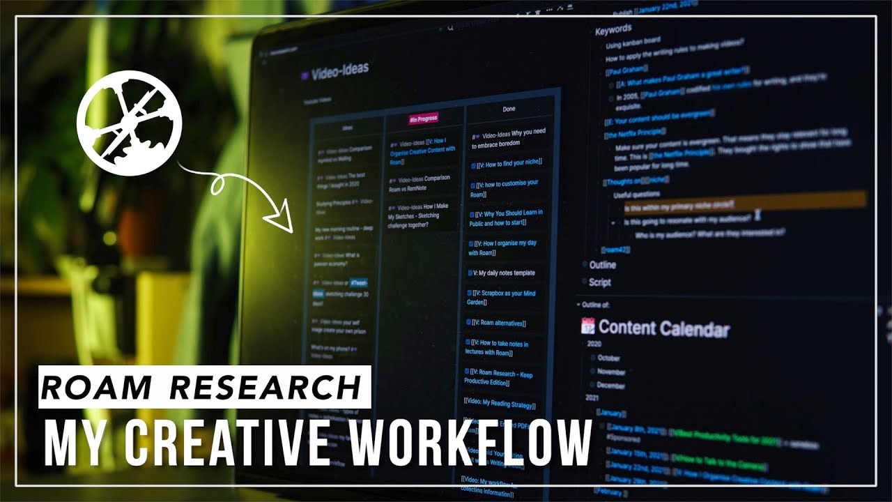 My Creative Workflow in Roam Research