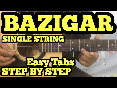 Baazigar Guitar Tabs Lesson | SINGLE STRING | Easy For Beginners | FuZaiL Xiddiqui