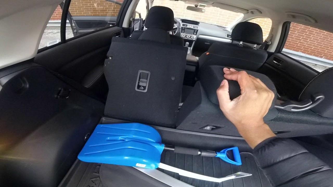 Lay Rear Seats Down Subaru Crosstrek Youtube