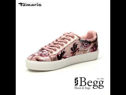 promo code 96d47 5f199 Tamaris Marras 23774-22-678 Rose - floral trainers