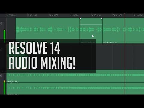Basic FairLight Mixing In Resolve 14!  - DaVinci Resolve Audio Tutorial