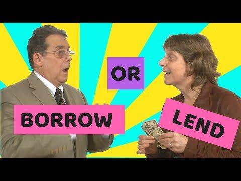Lend - Borrow - Learn English with Simple English Videos