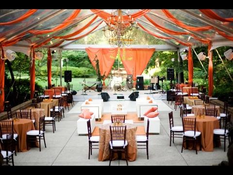Dekoration Hochzeit Orange Youtube