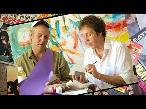 Paul McCartney And Youth Painting The Electric Arguments Artwork 2008 Photos