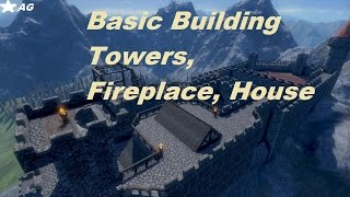 Medieval Engineers Episode 2:basic Building(fireplace, House, Towers)