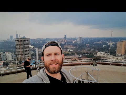 360 degree view of Nairobi from a HELIPAD! || KENYA DAY 3
