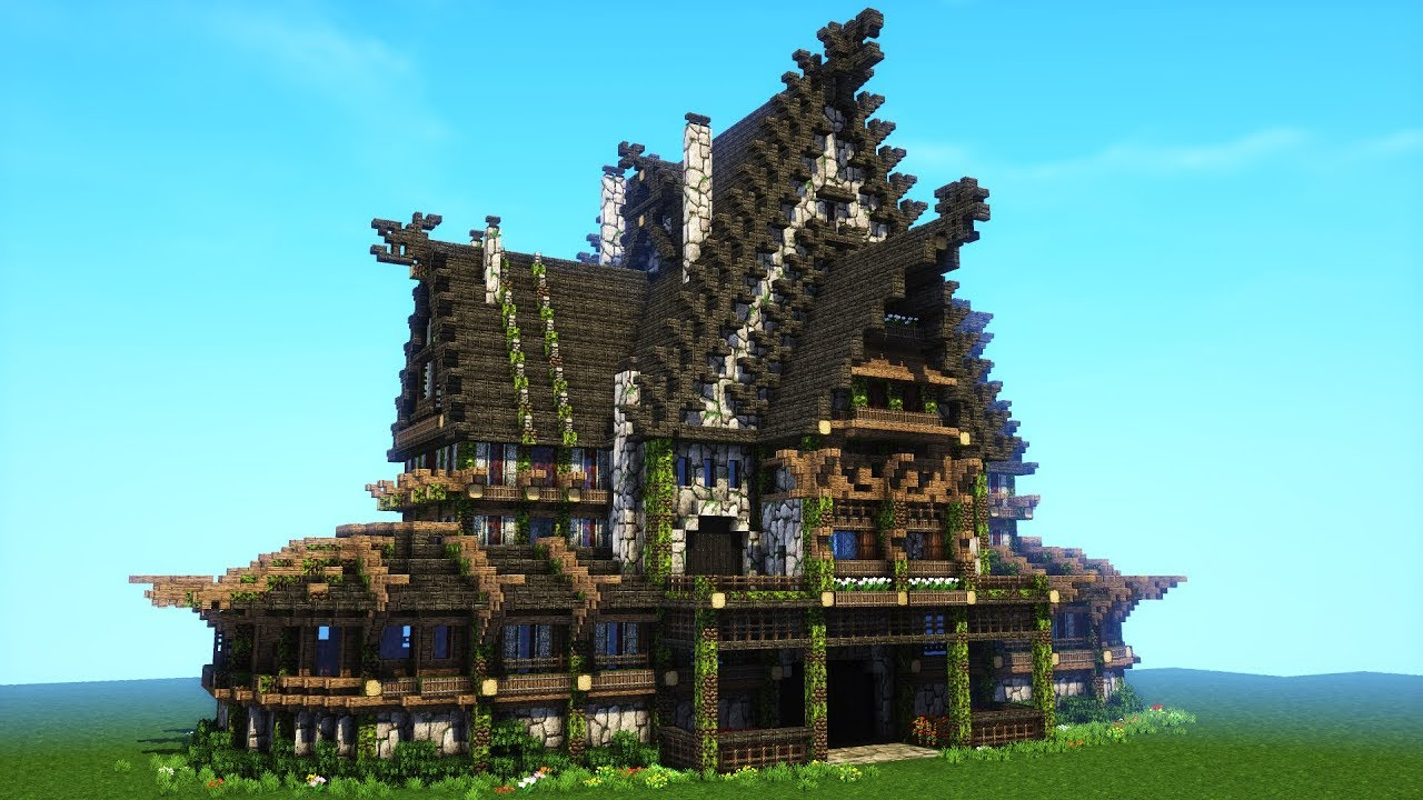 Minecraft Viking House Tutorial - Nordic And Rustic Mansion