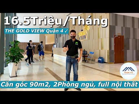✅Cho thuê căn hộ The Gold View Quận 4, căn góc 90m2 full nội thất   Trần Vũ Vlog