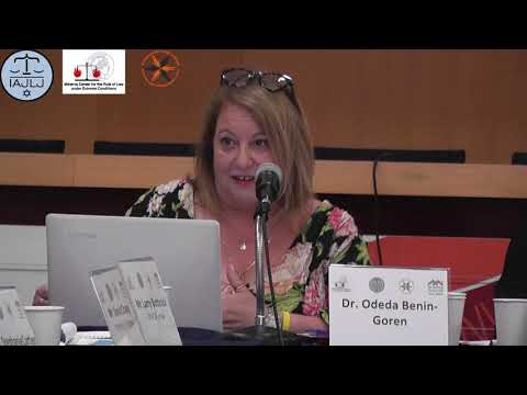 Legal Aspects of Relief Operations: Dr. Odeda Benin-Goren -