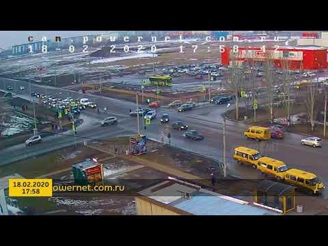 ДТП (авария г. Волжский) ул. Карбышева ул. Оломоуцкая 18-02-2020 17-58