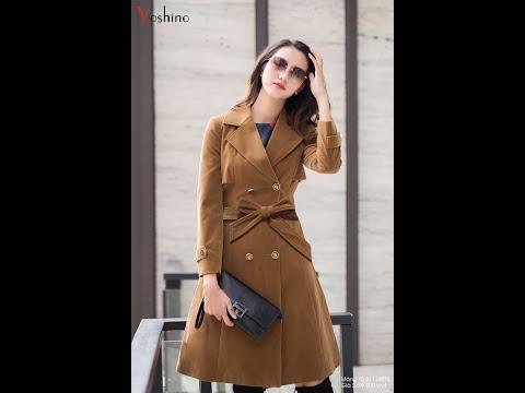 Áo Khoác Trend Coat Màu Nâu Camel Diện Tết - Yoshino Fashion