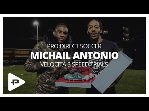 Umbro Velocita³ Speed Trials with Michail Antonio at Pro:Direct Play