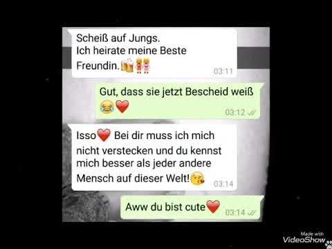 Romantische und trauriger WhatsApp Chats