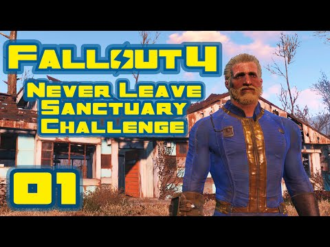 Let's Play Fallout 4: Never Leave Sanctuary Challenge - Part 1 - Ghost Town Janitor