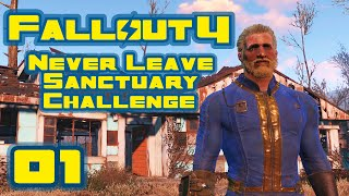 Let s Play Fallout 4 Never Leave Sanctuary Challenge - Part 1 - Ghost Town Janitor