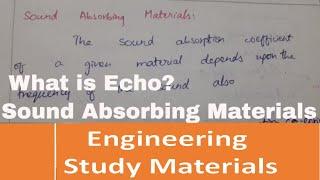 Sound Absorbing Materials engineering study materials