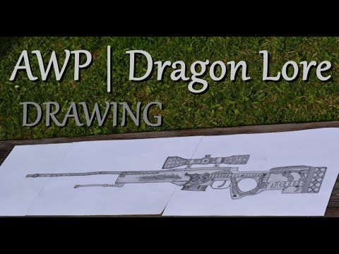 Drawing The AWP | Dragon Lore!!!