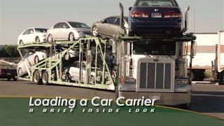 Loading a Car Carrier