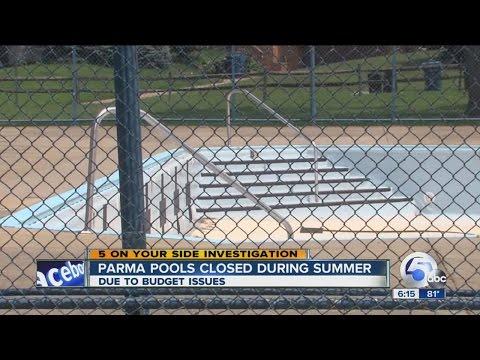 Parma city pools closed