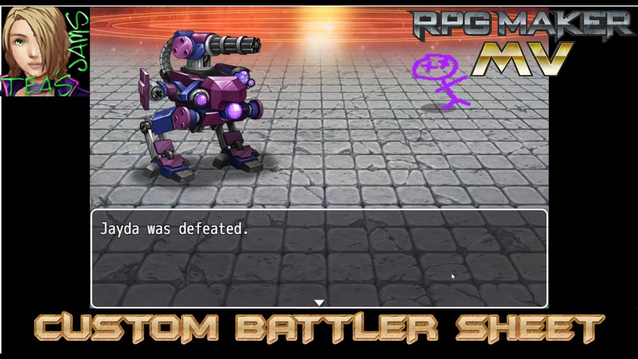 HOW TO RPG MAKER MV CUSTOM BATTLER SHEET